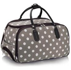 Cestovní taška - tečkovaná, šedá