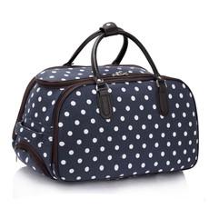 Cestovní taška - tečkovaná, tmavomodrá