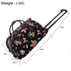Cestovní taška - Motýlová, látková, černá