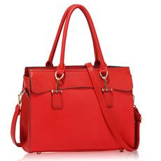 Kabelka - Narelle, elegantní, s popruhem, červená