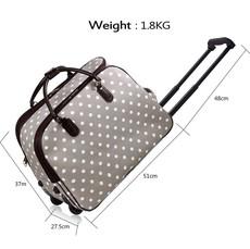 Cestovní taška - velká cestovní, tečkovaná, šedá