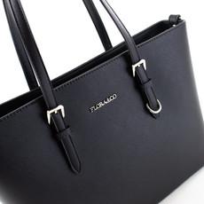 Kabelka - Flora velká na rameno elegantní, černá