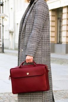 Taška - Sorrento kožená dámská do práce, burgundy