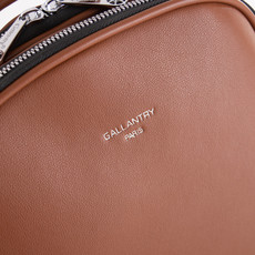 Batoh - Gallantry Paris eko kožený na zip, hnědý
