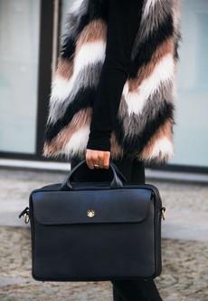 Taška - Sorrento kožená dámská do práce, černá