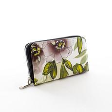 Peněženka - květinová střední Diana, černá