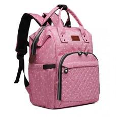 Batoh - tečkovaná kojenecký pro maminky, růžový