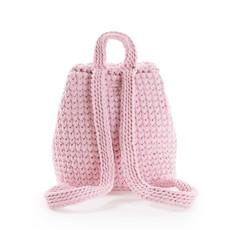 Batoh - háčkovaný růžový