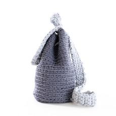 Batoh - háčkovaný šedý