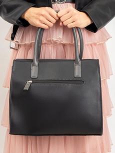 Kabelka - elegantní Luigisanto do ruky, černá / šedá