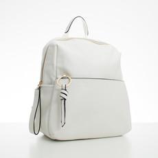Batoh - koženkový s doplňky Diana, bílý