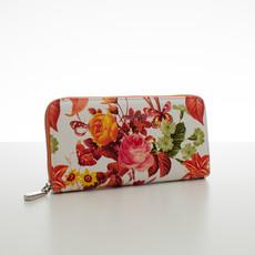 Peněženka - letní květiny, oranžová