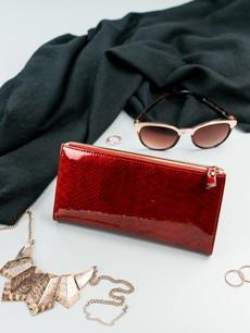 Peněženka - dámská Milano design koženková, tmavočervená