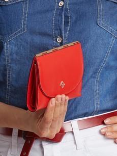 Peněženka - tenká střední Milano design červená