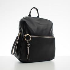 Batoh - koženkový s doplňky Diana, černý