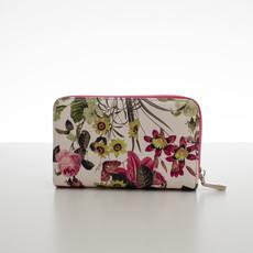Peněženka - střední květinová Diana, fuchsia