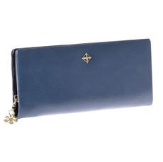 Peněženka - s řemínkem do ruky koženková, modrá