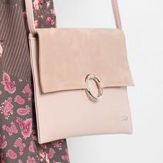 Kabelka - listová Rovicky pudrově růžová